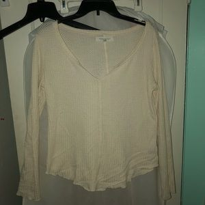 Aeropostale Cream Slouchy Sweater
